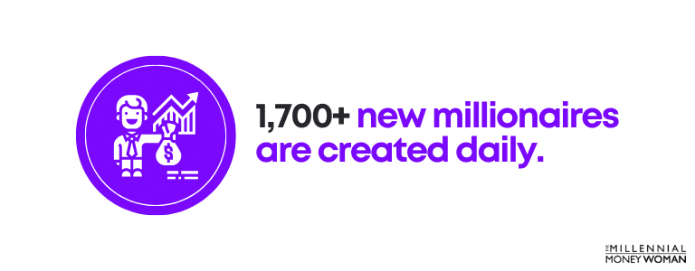 1,700+ new millionaires are created daily