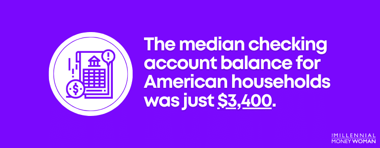 The median checking account balance for American households was just $3,400
