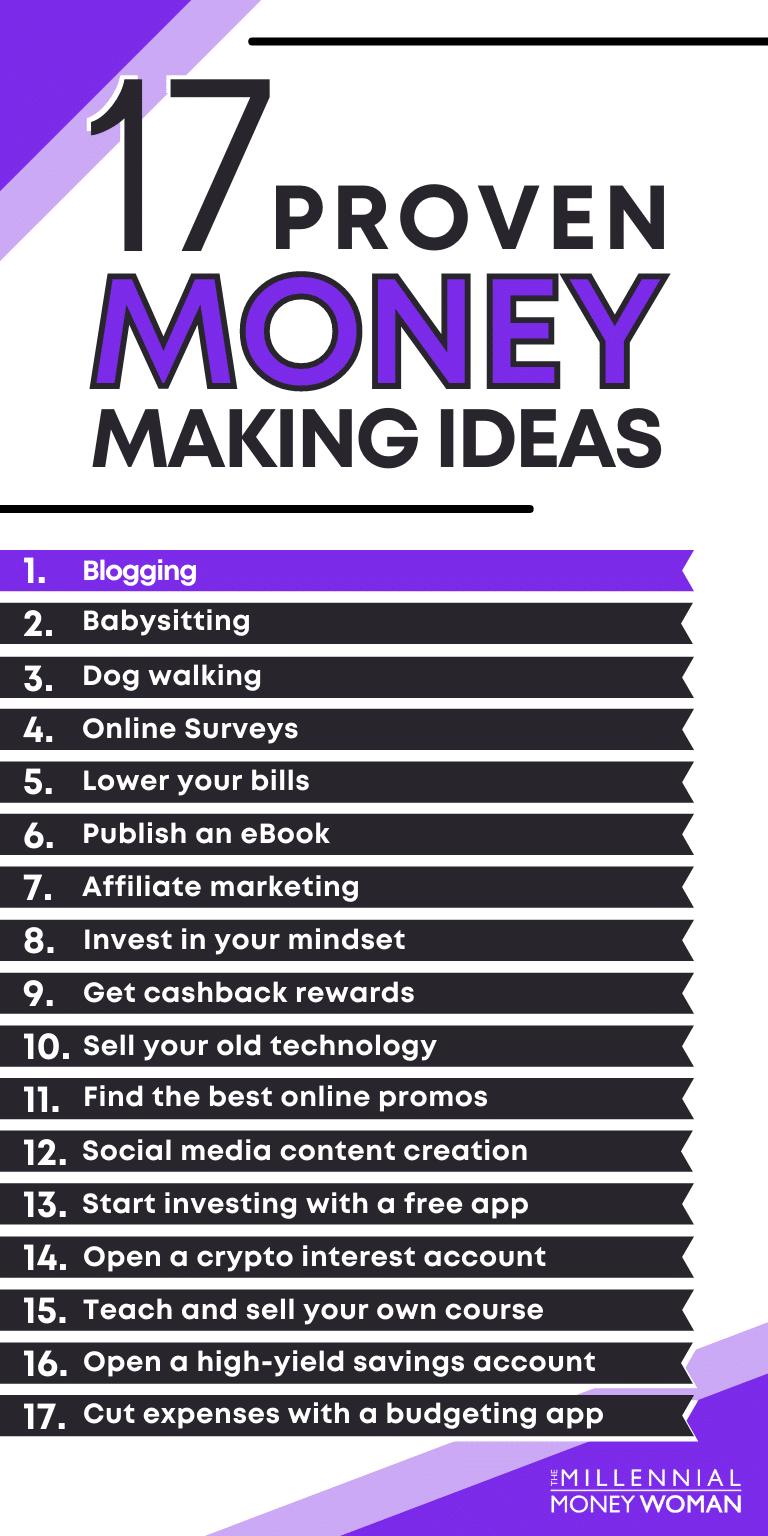17 money making ideas