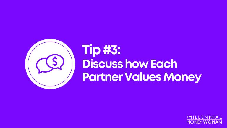 discuss how each partner values money