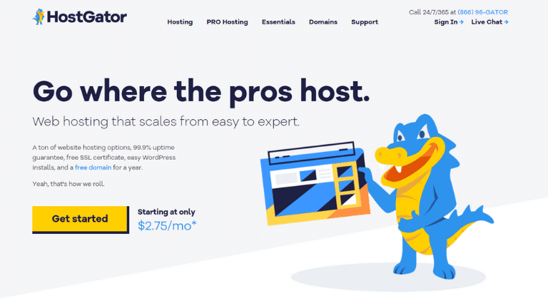 hostgator - start a blog