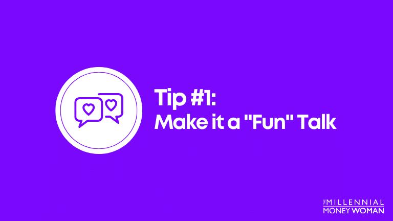 make it a fun talk