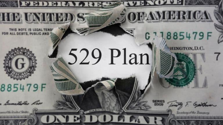 529 plan behind a dollar