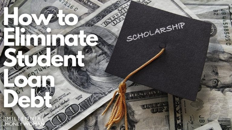 """the millennial money woman blog post """"paying off student loans"""""""