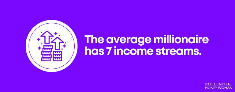 The average millionaire has 7 income streams