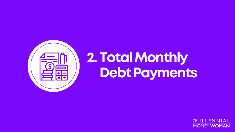total monthly debt payments