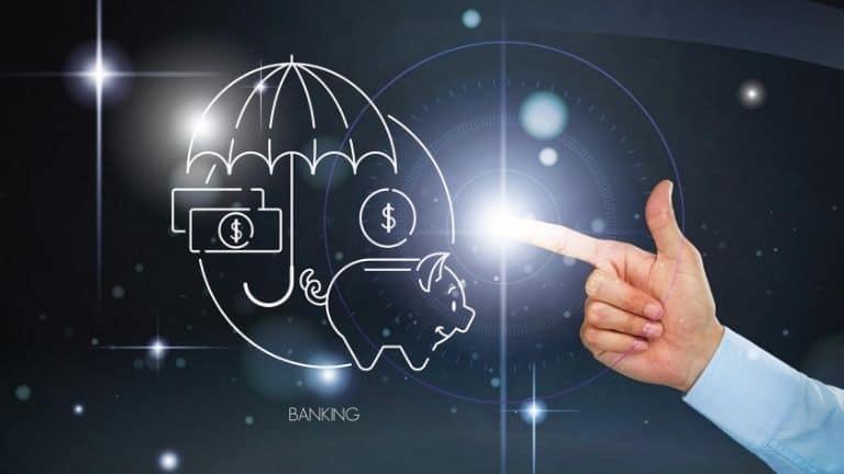 banking money hand umbrella piggy bank