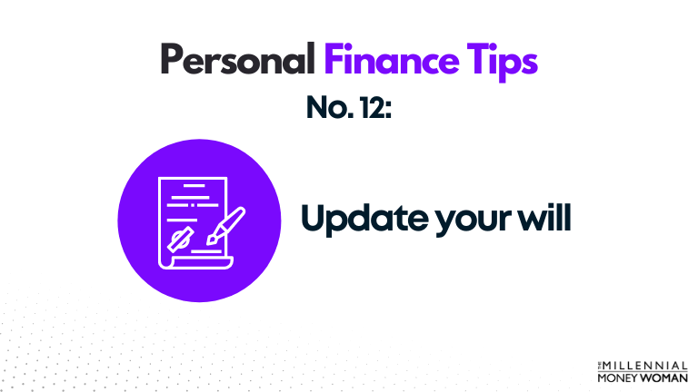 personal finance tip #12 update your will