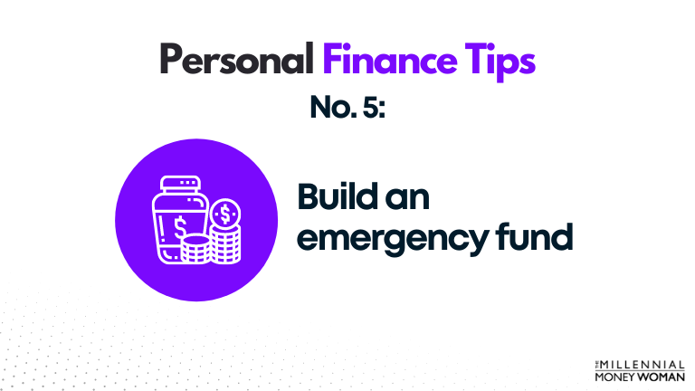 personal finance tip #5 build an emergency fund