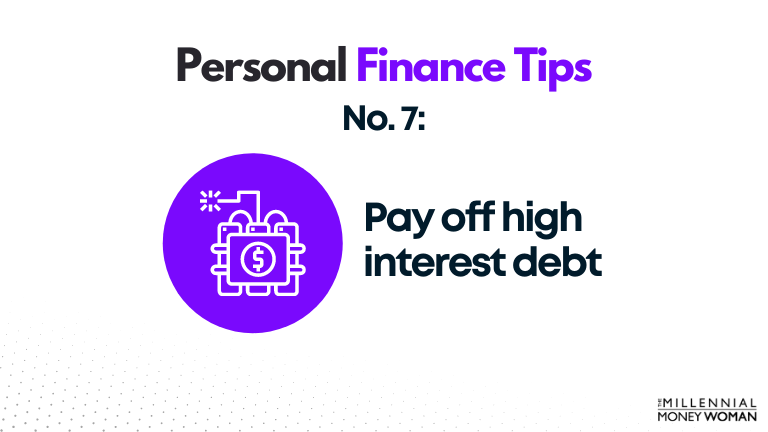 personal finance tip #7 pay off high interest debt