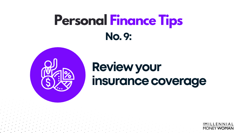 personal finance tip #9 review your insurance coverage