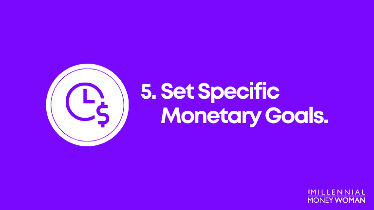 set specific monetary goals 2