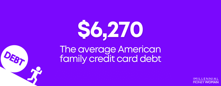6270 dollars is the average american family credit card debt