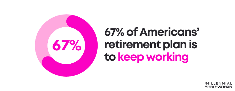 67 percent of americans retirement plan is to keep working