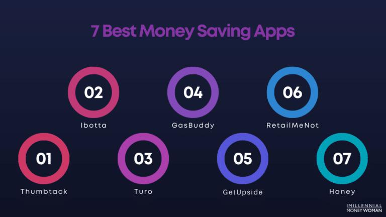 """the millennial money woman blog post """"7 best money saving apps"""""""
