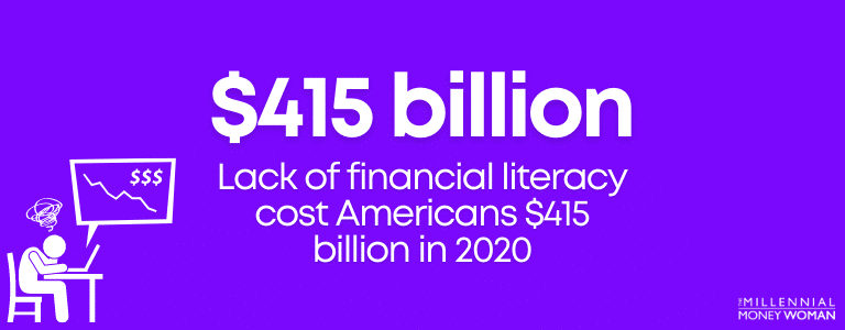 lack of financial literacy cost americans 415 billion dollars in 2020