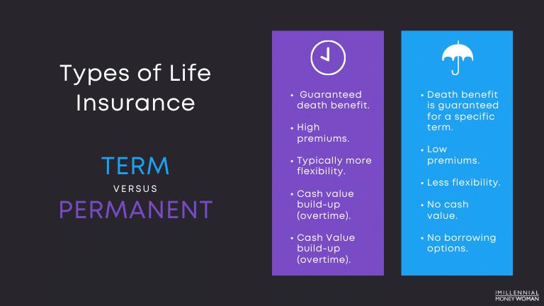 "the millennial money woman blog post ""types of life insurance"""