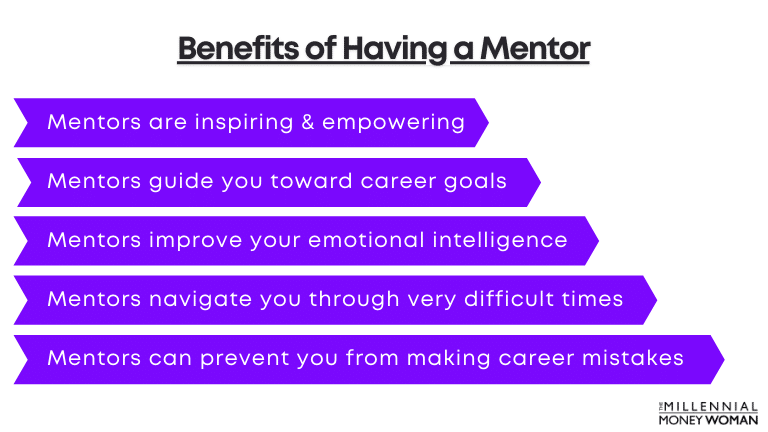 """the millennial money woman blog post """"benefits of having a mentor"""""""