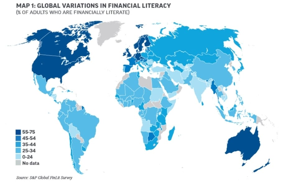 """the millennial money woman blog post """"global variations in financial literacy"""""""