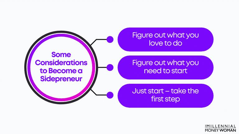 "the millennial money woman blog post ""sidepreneur considerations"""