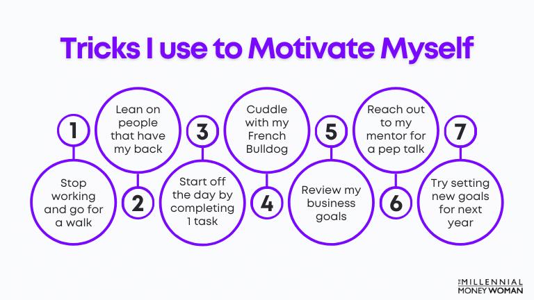 tricks i use to motivate myself