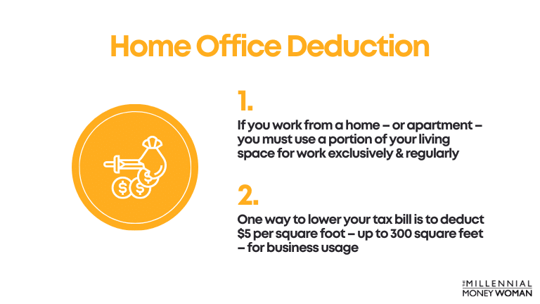"""the millennial money woman blog post """"Home Office Deduction"""""""