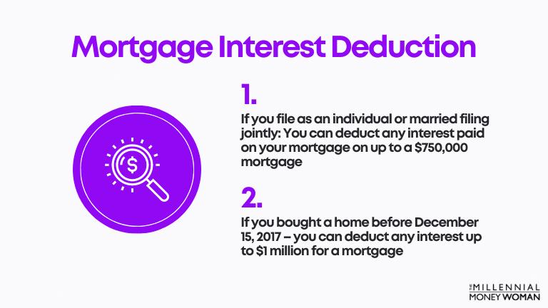 "the millennial money woman blog post ""Mortgage Interest Deduction"""