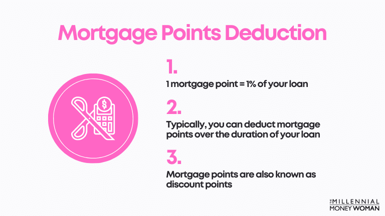 """the millennial money woman blog post """"Mortgage Points Deduction"""""""