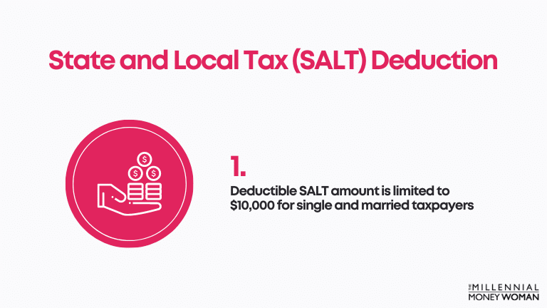 """the millennial money woman blog post """"State and Local Tax (SALT) Deduction"""""""