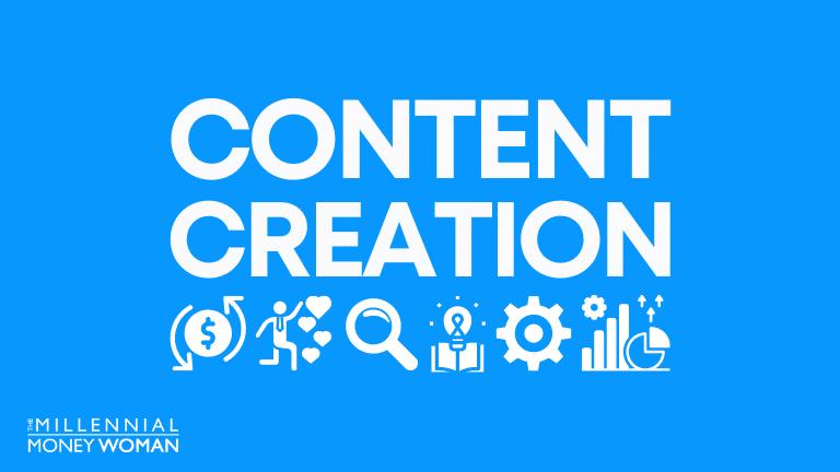 "the millennial money woman blog post ""content creation"""