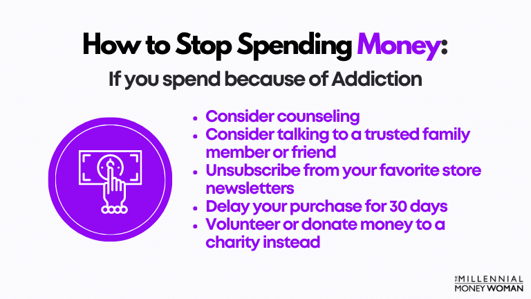 how to stop spending money if you spend because of addiction