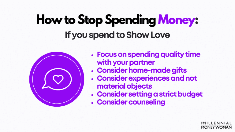 how to stop spending money if you spend to show love