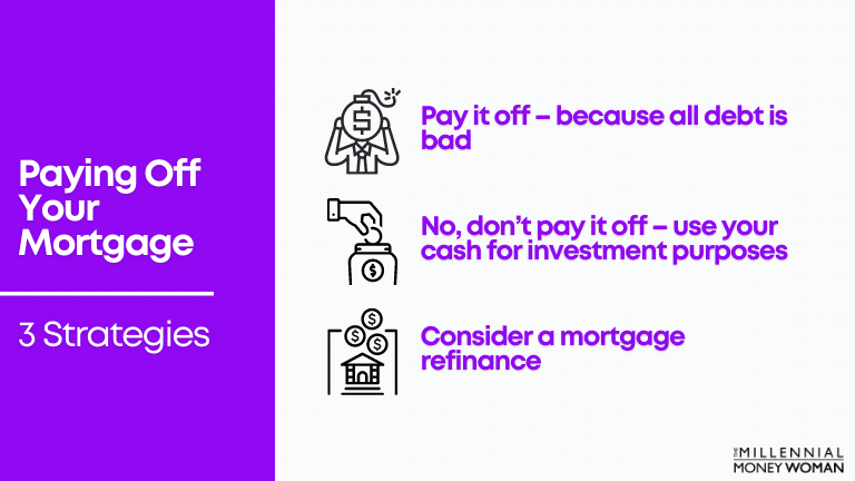 """the millennial money woman blog post """"paying off your mortgage early three strategies"""""""