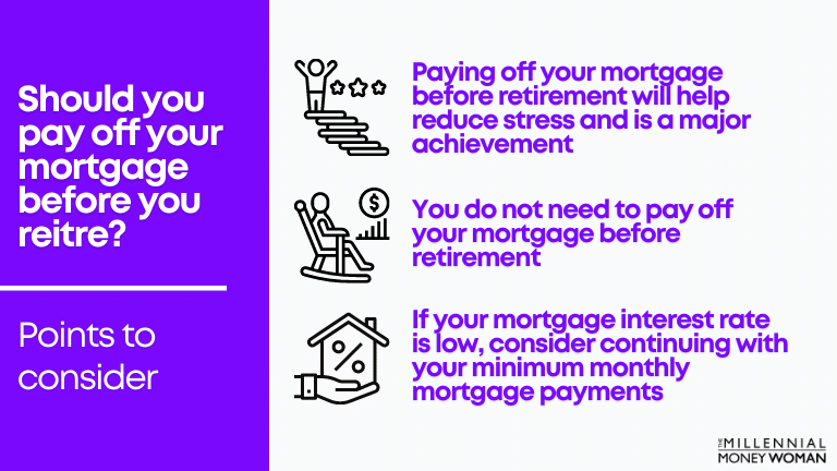 """the millennial money woman blog post """"should you pay off your mortgage before you retire"""""""