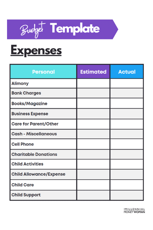 budget template background 2