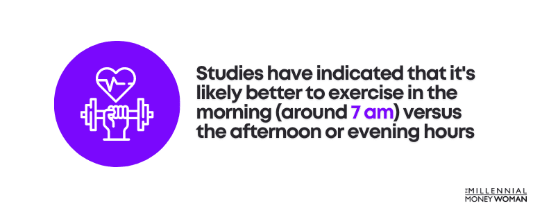 best time to exercise statistic