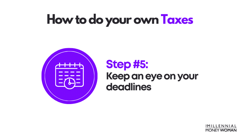 how to do your own taxes step 5