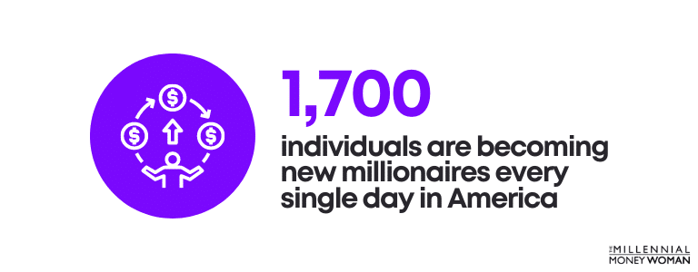 individuals in america becoming millionaires statistic