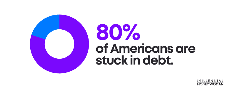 Americans stuck in debt statistic