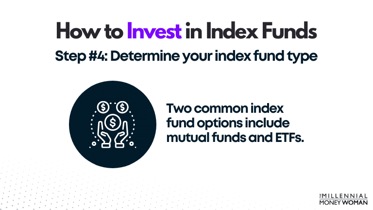 """the millennial money woman blog post """"how to invest in index funds step 4"""""""