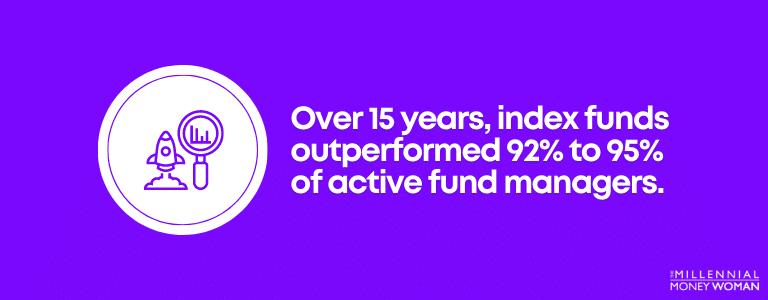 "the millennial money woman blog post ""index funds performance statistics"""