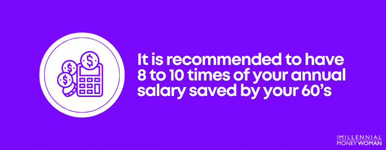 recommended amount to save for your 60s
