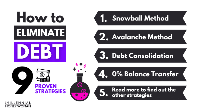 """the millennial money woman blog post """"9 ways to get out of debt fast"""""""