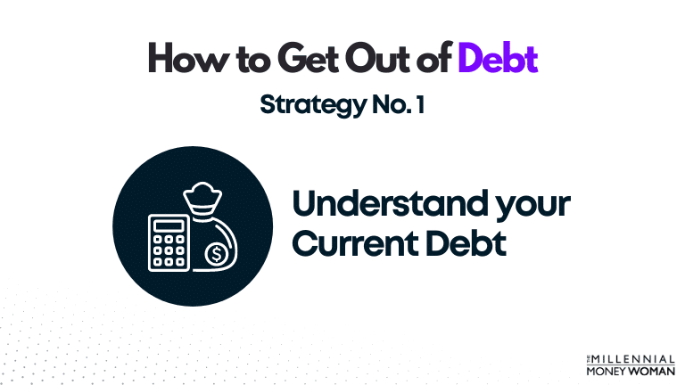 """the millennial money woman blog post """"how to get out of debt strategy 1"""""""