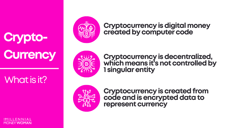 """the millennial money woman blog post """"what is cryptocurrency"""""""