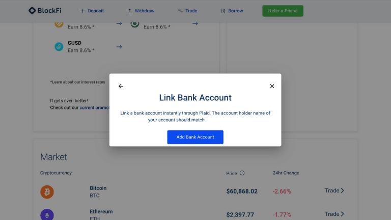 blockfi link account screenshot