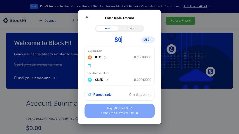 blockfi buy or sell screenshot