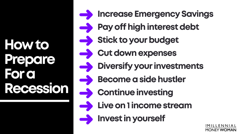 9 ways to prepare for a recession
