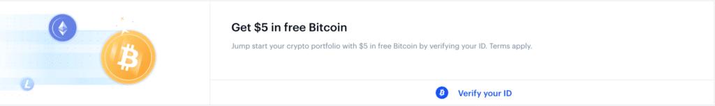 coinbase claim free 5 dollar screenshot