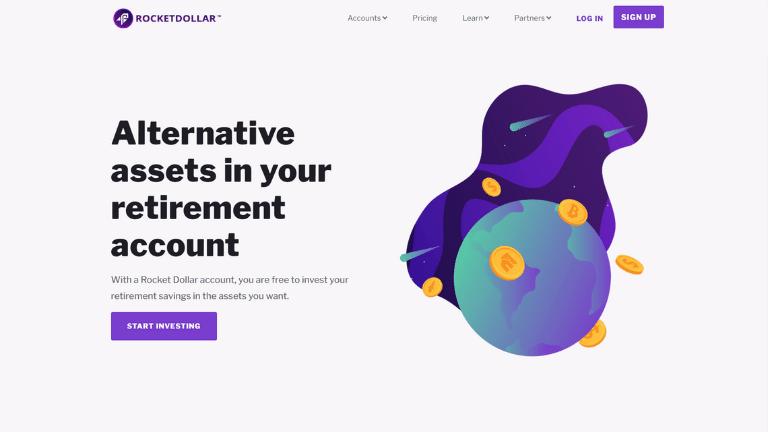 rocket dollar investing website homepage screenshot